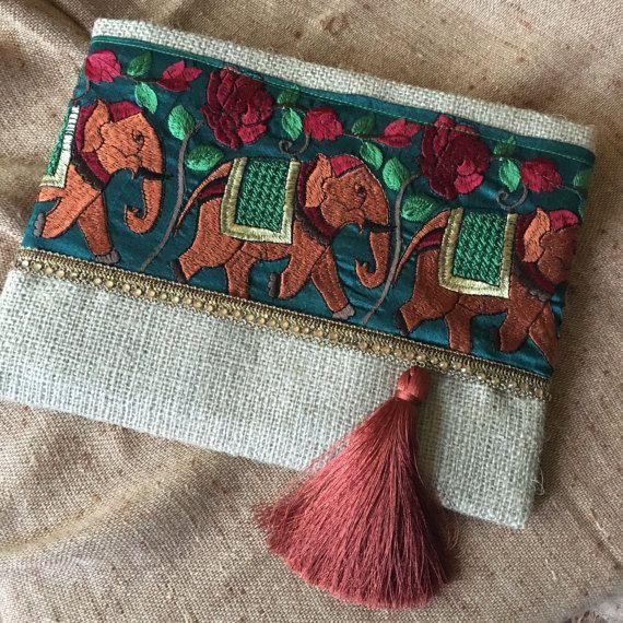 Elephant Bohemian Clutch, Boho Bag, Fashion Bag, Womens ...