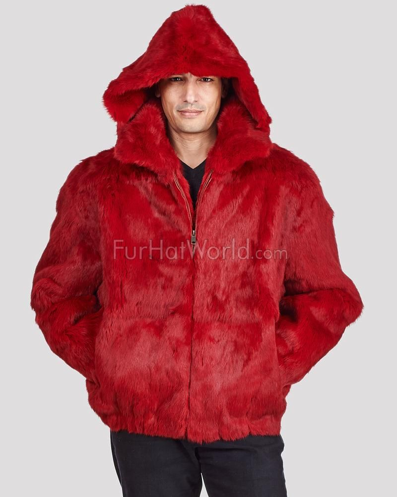 Hover Over Image To Zoom Hooded Bomber Jacket Fur Jacket Winter Outfits Men [ 1000 x 800 Pixel ]