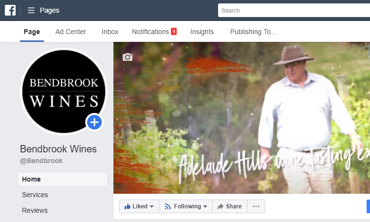 Check out the new Bendbrook Wines Facebook page including