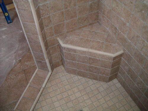 shower construction ceramic floor tile