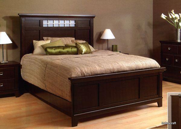 Best Modern Attractive Wooden Double Bed Inb09 400 x 300