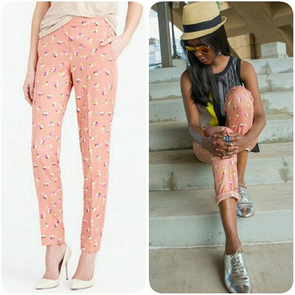 j crew falling pansies pant These drapey pants with a
