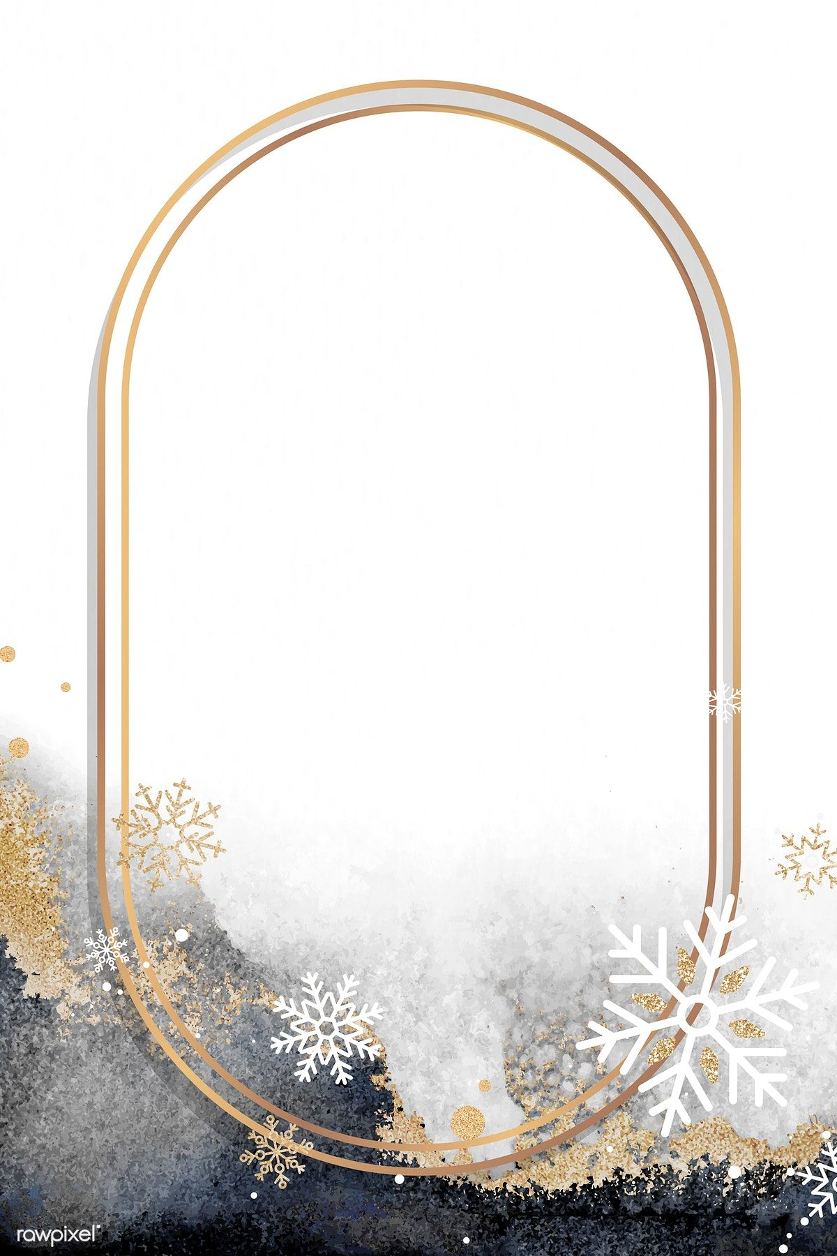 Oval Christmas Frame Design Vector Free Image By Rawpixel Com Sasi Vector Vectorart Digitalpainting Di Christmas Frames Frame Design Photo Frame Images