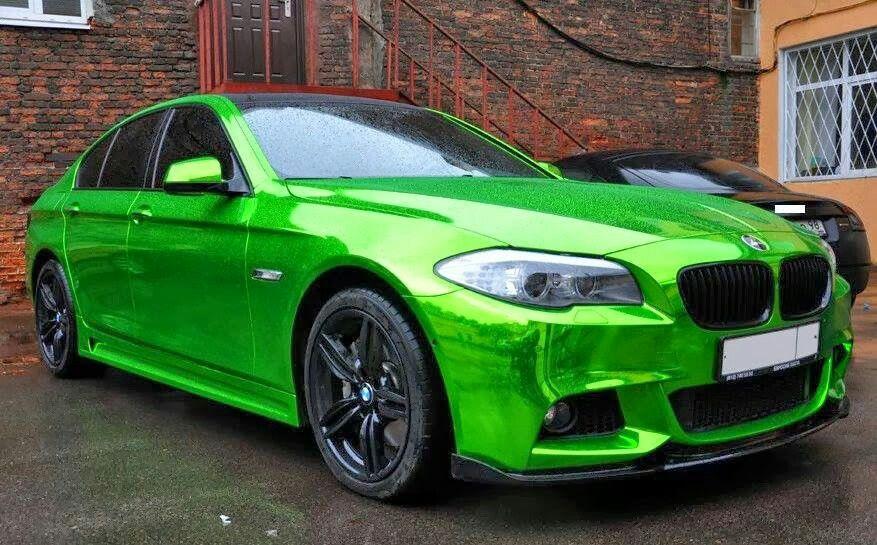 Bmw F10 M5 In Metallic Green Bmw Bmw 5 Series Car Wrap
