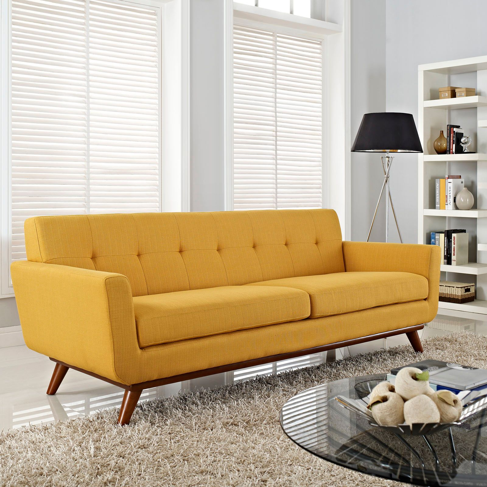 Spiers Sofa in Mustard - Unique Modern Furniture - Dot & Bo | HOME ...