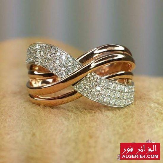 موديلات جديده دبل خطوبة دهب 2017 Engagement Rings Couple Couple Wedding Rings Gold Rings Jewelry