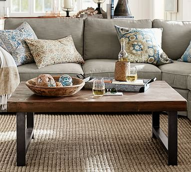 Griffin Reclaimed Wood Coffee Table Potterybarn