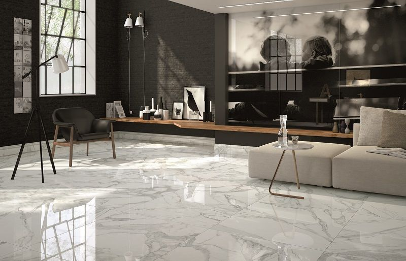 Jewels Bianco Lunensis Nt16 6170fl Tile Floor Living Room Marble Tile Floor Marble Floor