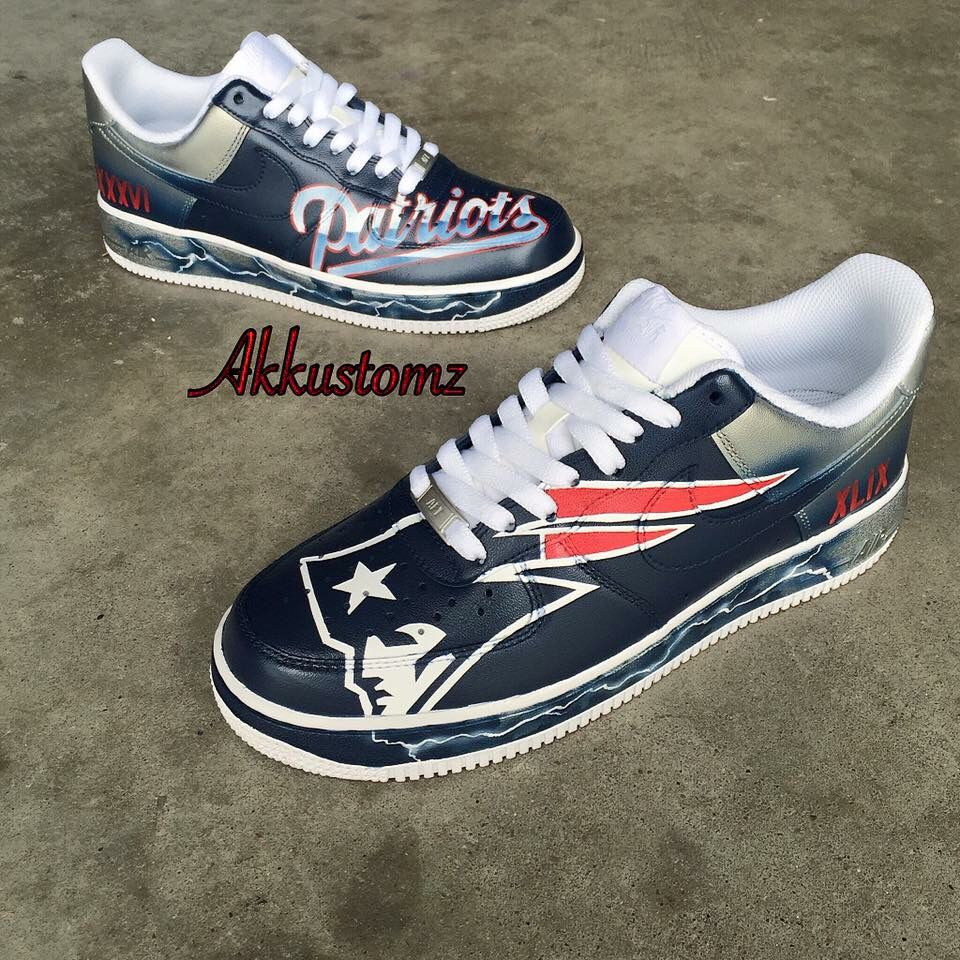 New england patriots shoes, Nike air