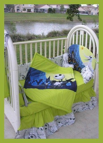 Nightmare Before Christmas Crib Bedding Set Christmas Crib Set Nightmare Before Christmas Babyshower Bed