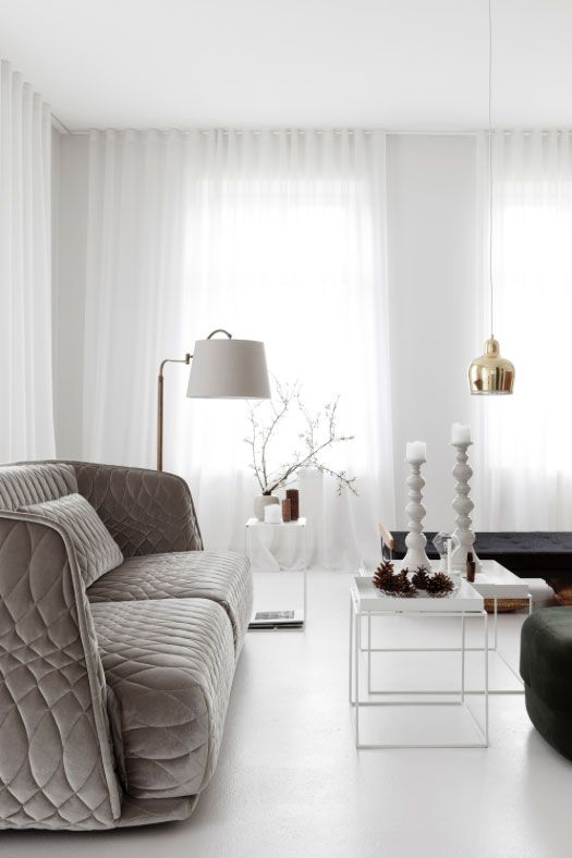 Luxurious Textures Muted Colours In Grey Mink Nude And Metallics Modern Elegance Apartment Makeover By German Interior Design Studio Oink