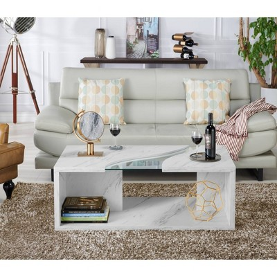 Amazing Gustave Coffee Table Winter White Gray Homes Inside Out Gmtry Best Dining Table And Chair Ideas Images Gmtryco