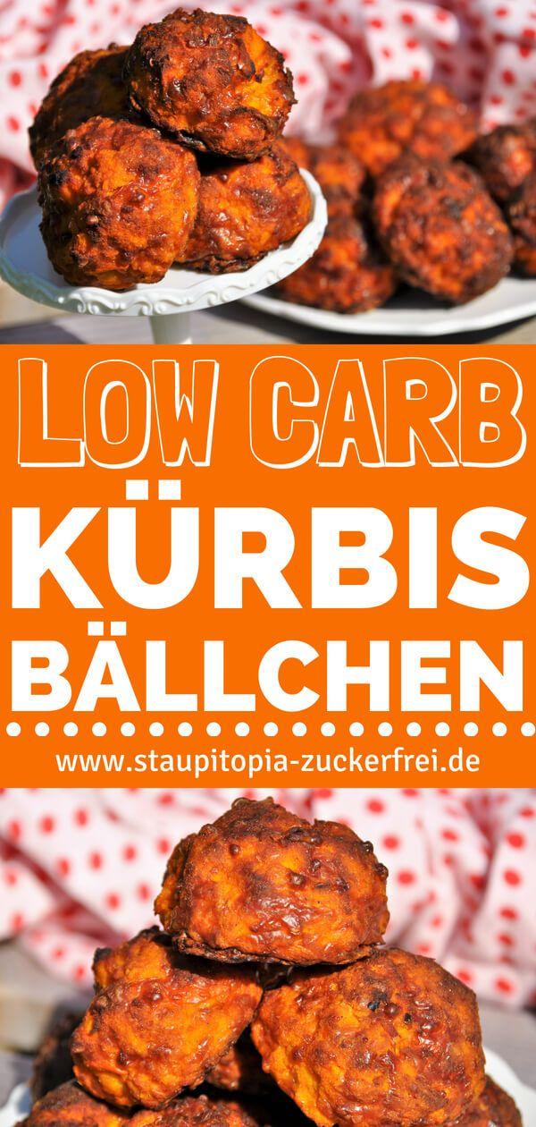 Low Carb Kürbis Bällchen mit Mozzarella #lowcarbyum