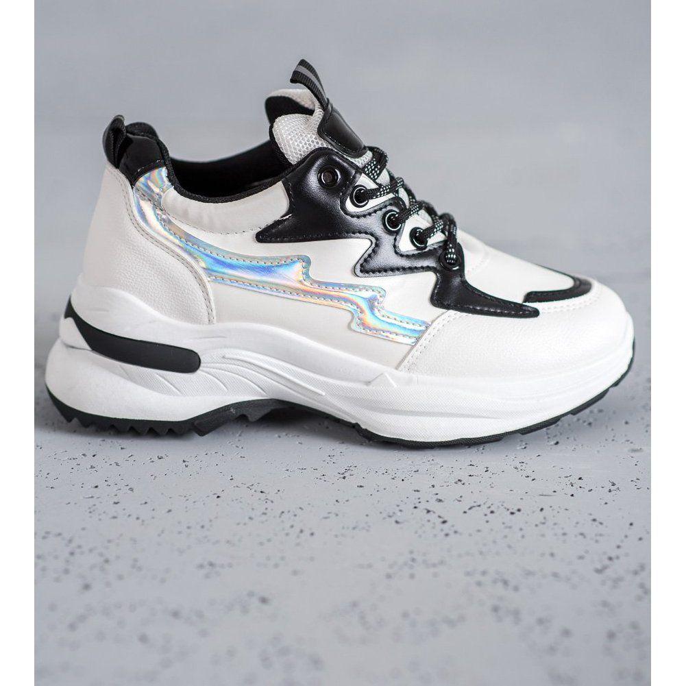 Shelovet Buty Sportowe Z Eko Skory Biale Wielokolorowe Sneakers Nike Shoes Sneakers