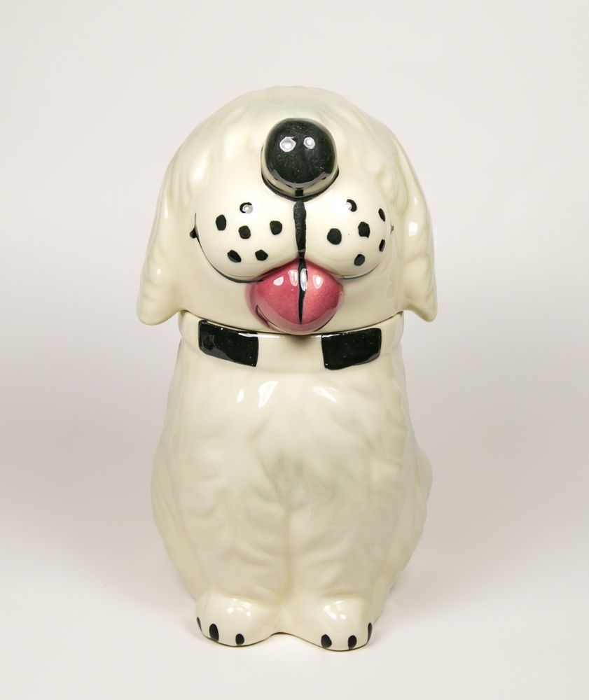 Rare 1940 S Mccoy Usa Dan The Dog White Sheep Dog Treat Cookie Jar