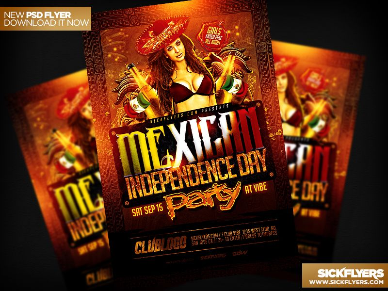Mexican Independence Day Flyer PSD Mexicans - independence day flyer