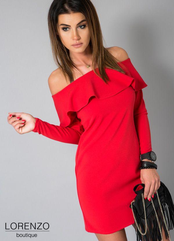Sukienka Hiszpanka Czerwona Falbana L 5829746543 Oficjalne Archiwum Allegro Fashion Dresses Shoulder Dress