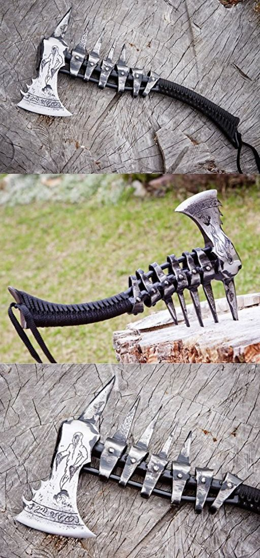 Hand forged Viking axe High carbon steel handmade hatchet axe