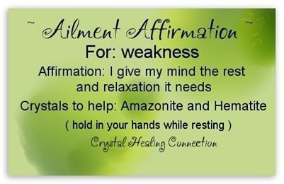 Weakness Amazonite Hematite With Images Healing Affirmations