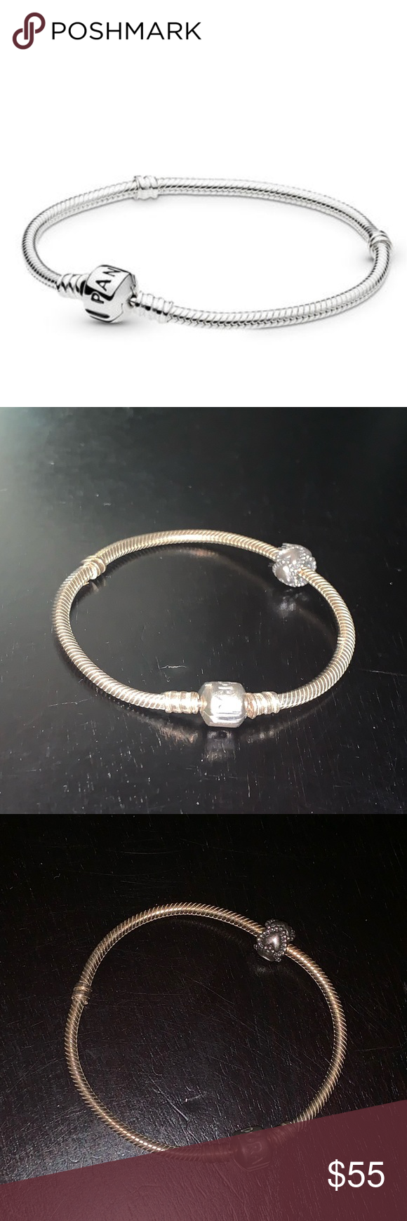 6dac906d4 Pandora Sterling Silver Charm Bracelet Authentic Pandora Bracelet - iconic  standard 925 sterling silver charm bracelet