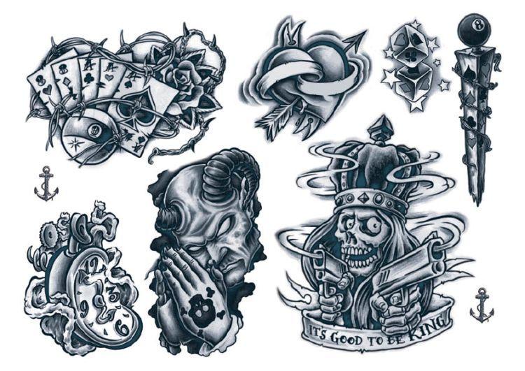 Temporary Tattoos Gangsta Style Gangsta Tattoos Cartoon Tattoos Money Tattoo