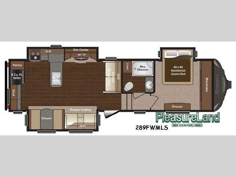 New 2015 Keystone Rv Sprinter 289fwmls Fifth Wheel Keystone Sprinter Floor Plans Keystone Rv