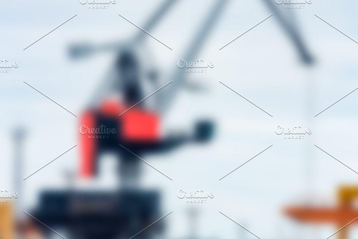 Photo of Portal cargo cranes – blurred image #Sponsored , #Ad, #cranes#soft#Portal#cargo