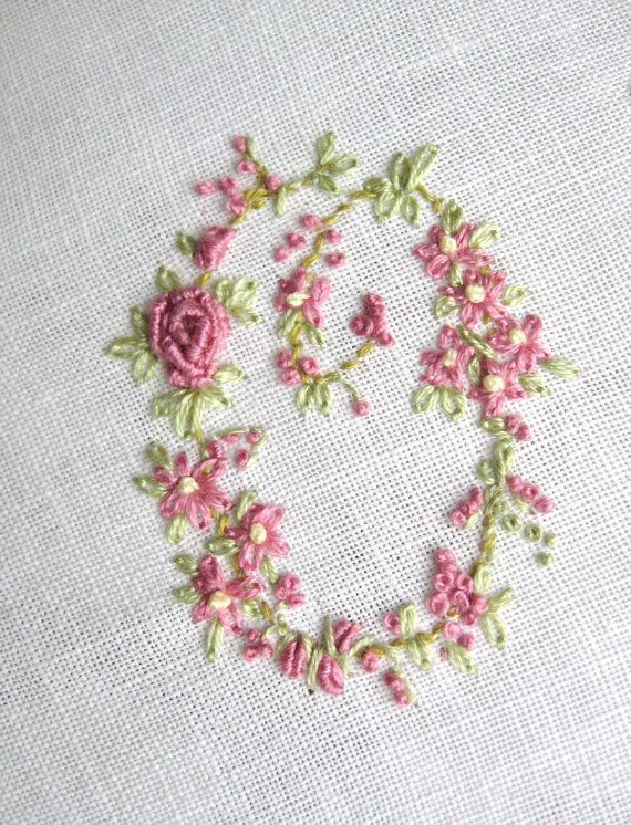 Hand embroidery monogram letter o not something i would
