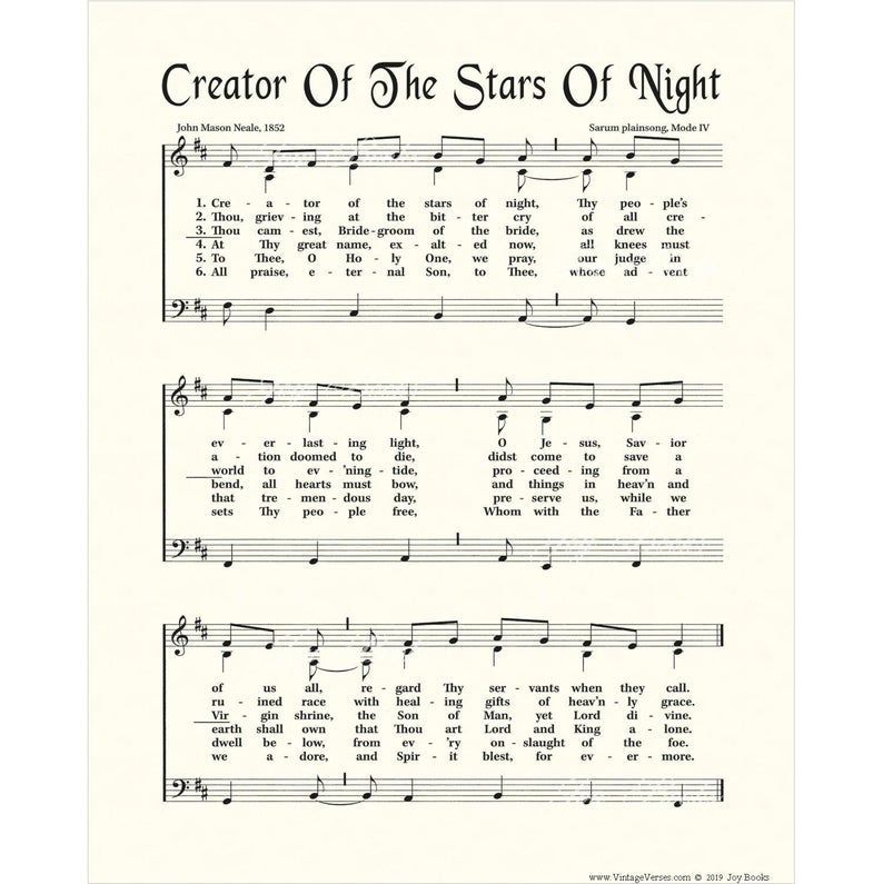 CREATOR Of The STARS Of NIGHT Christian Home & Office
