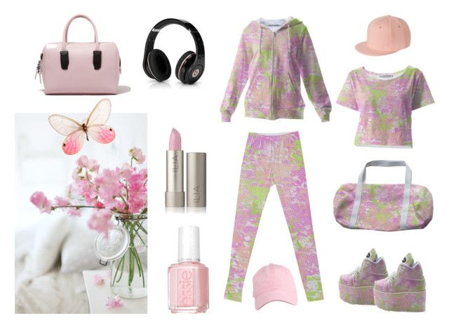 """Spring Pastel"" by kelly-cavender ❤ liked on Polyvore featuring Monki, Opening Ceremony, Essie and Beats by Dr. Dre"