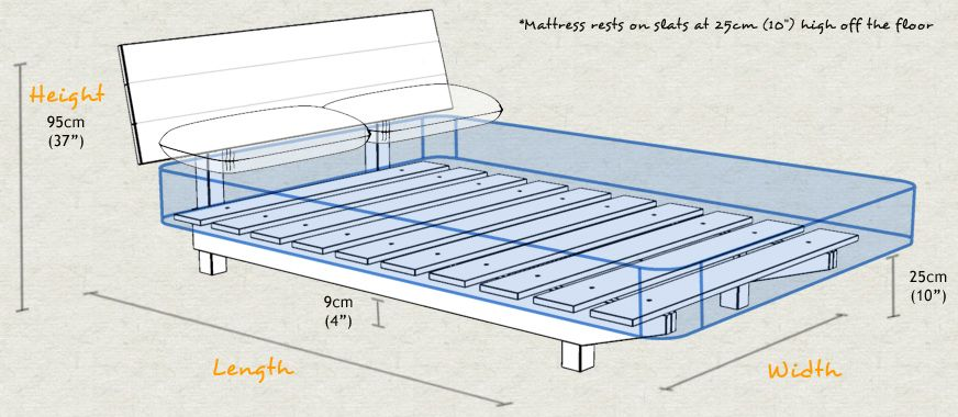 Wooden Bed Framework Google Search Bed Frame Sizes Floating Bed Wooden Bed Frames