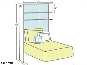 Make This Over The Bed Shelving Unit To Hold Your Photos