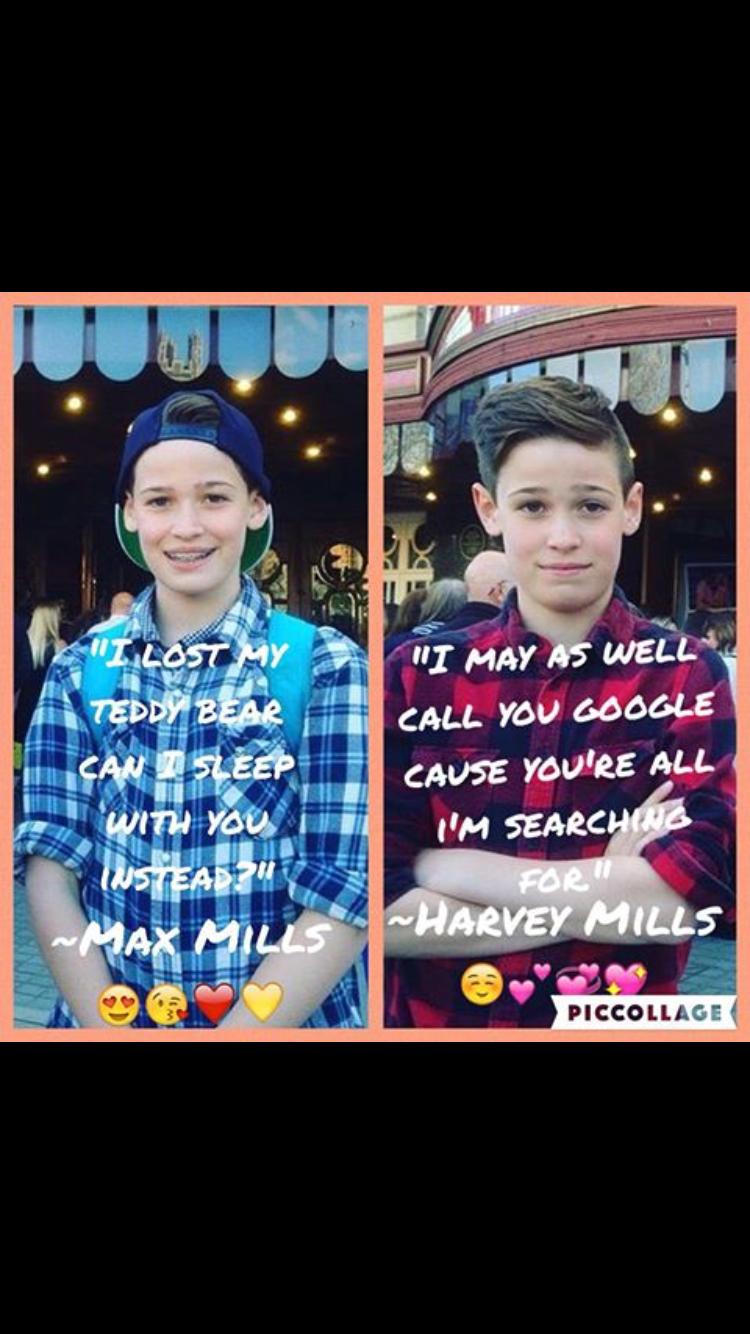 Pickup lines #Max and #Harvey   Max mills, Harvey mills ...