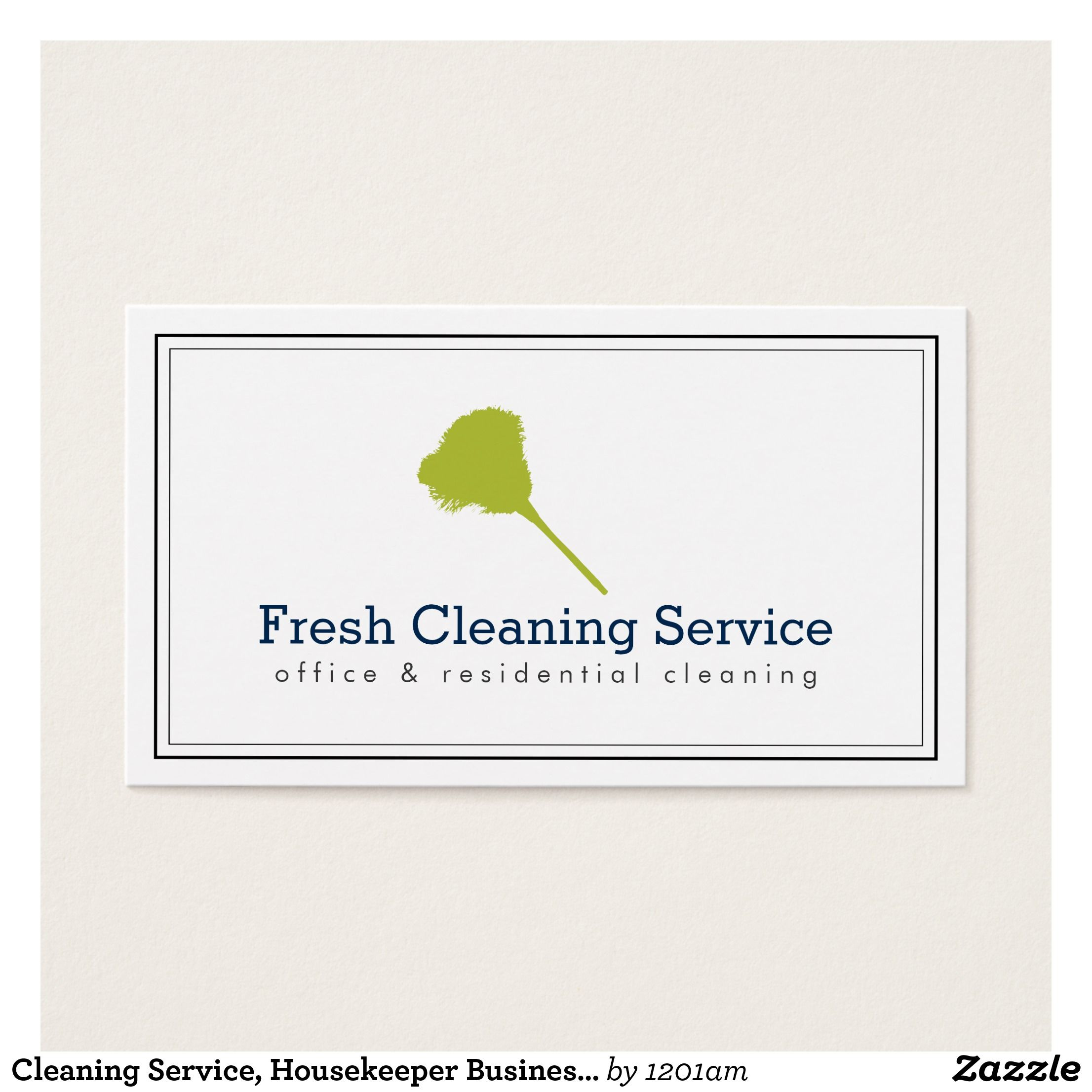 Cleaning Service Housekeeper Business Card