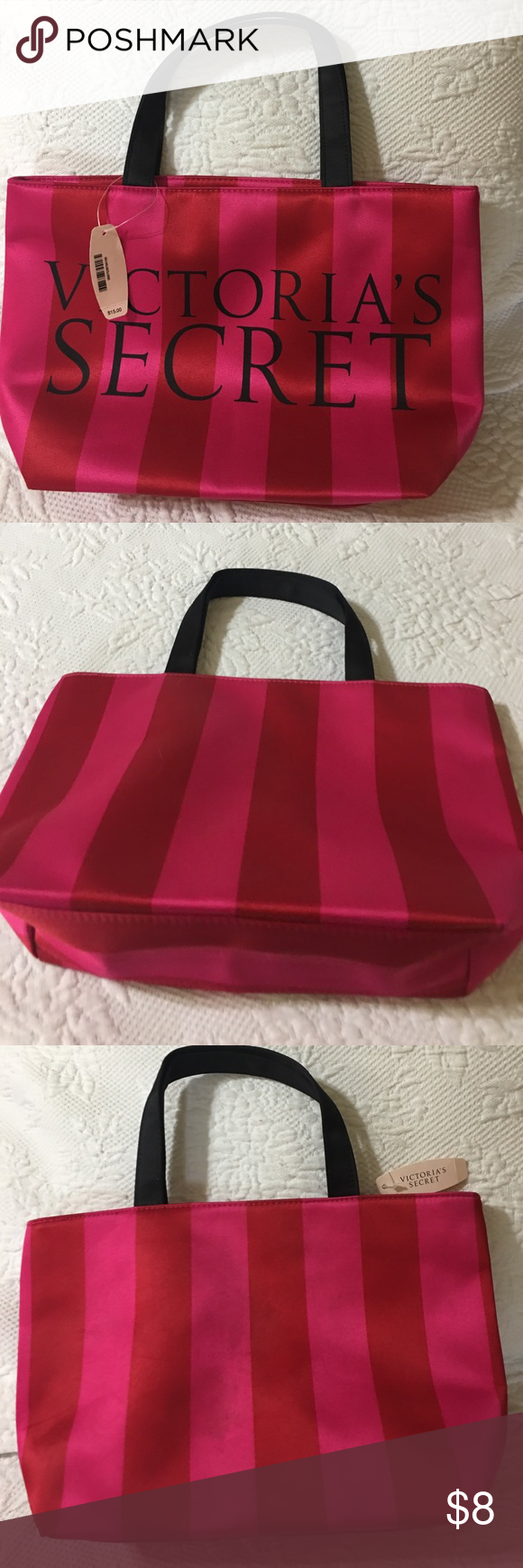 Victoria Secret mini tote Victoria Secret mini tote. Great for cosmetic bottles Victoria's Secret Bags Cosmetic Bags & Cases