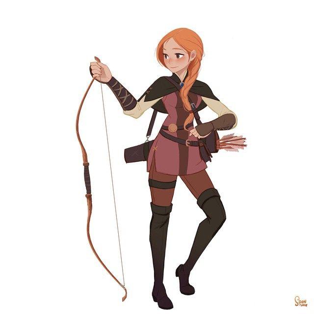 "personal project - Robin Hood 2015. ""Marion"". #soonsangworks #animation #cartoon #art #character #conceptart #robinhood #Girl #beauty #cute #illustration #instadaily #comic #원화 #컨셉아트 #캐릭터디자인 #에니메이션"