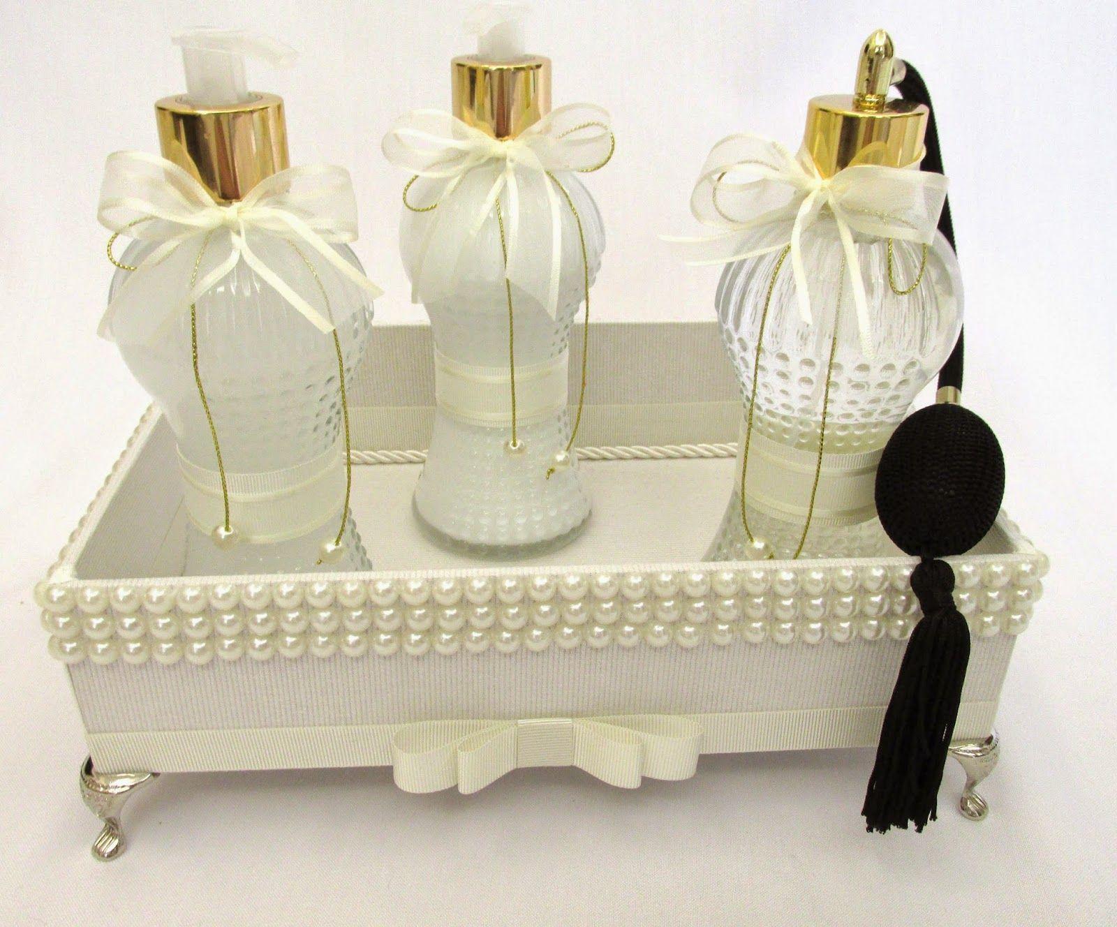 Divina caixa kit lavabo luxo com decora o em p rolas for Kit casa icf