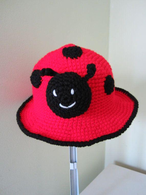 Crochet lady bug hat... Children baby girl lady bug beanie...Toddler ...