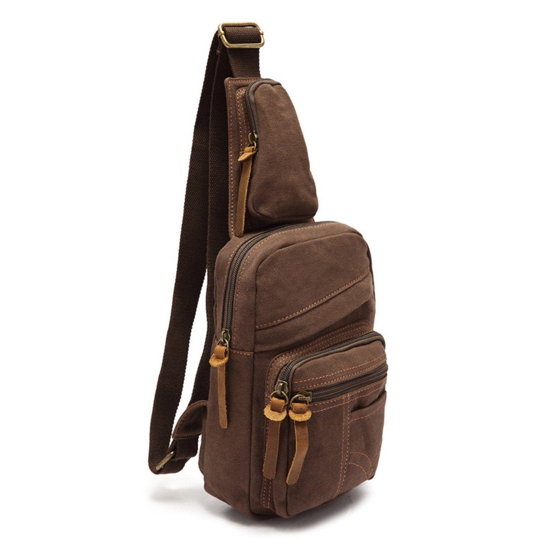ecocity men s canvas cross body chest pack chest bag