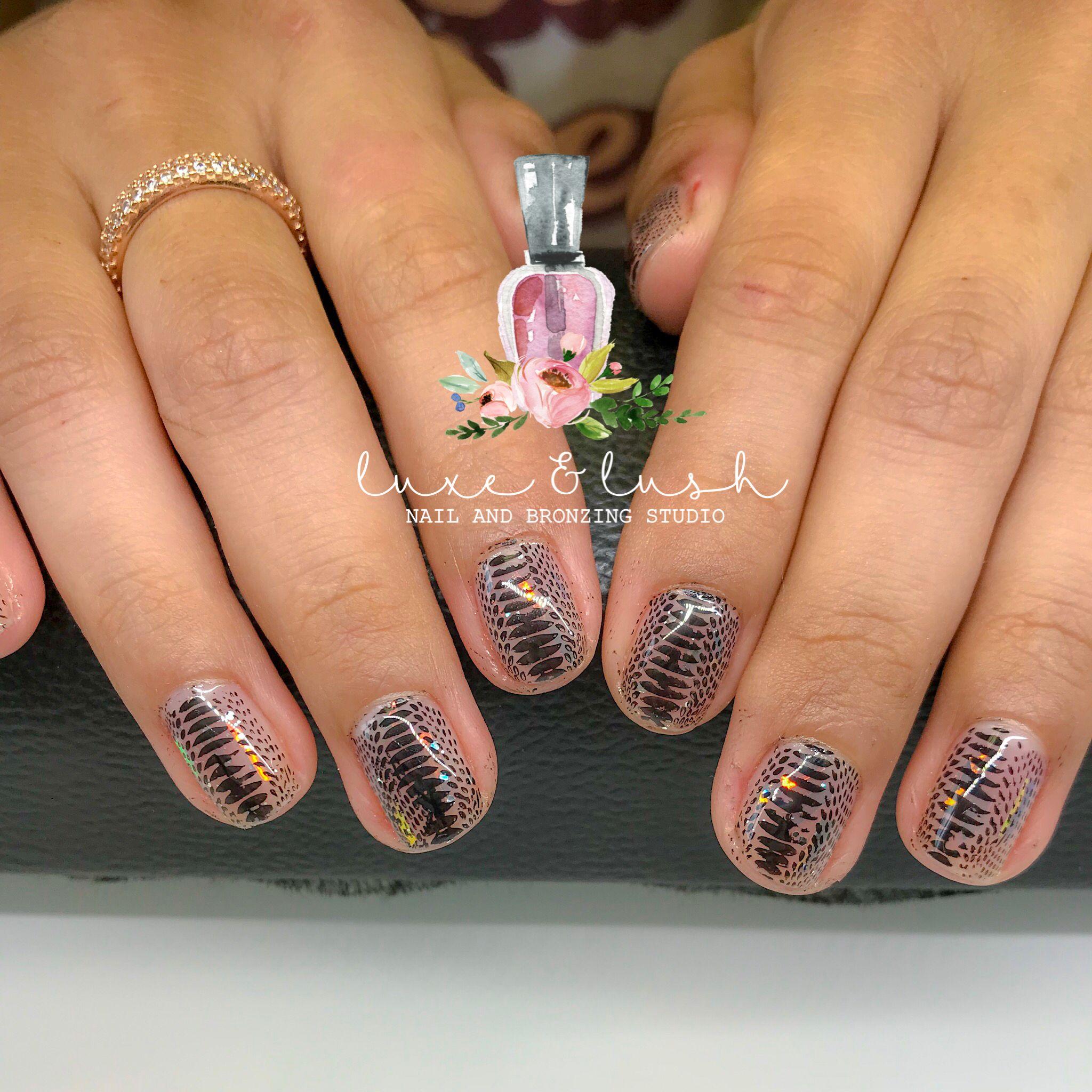 Snake skin gel nails | Luxe & Lush | Pinterest