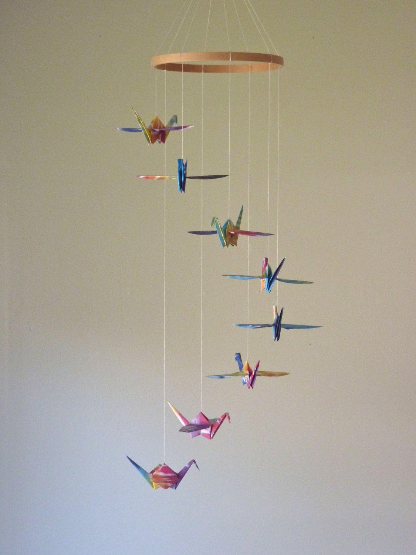 Origami Crane Mobile Baby Mobile Children Decor Eco