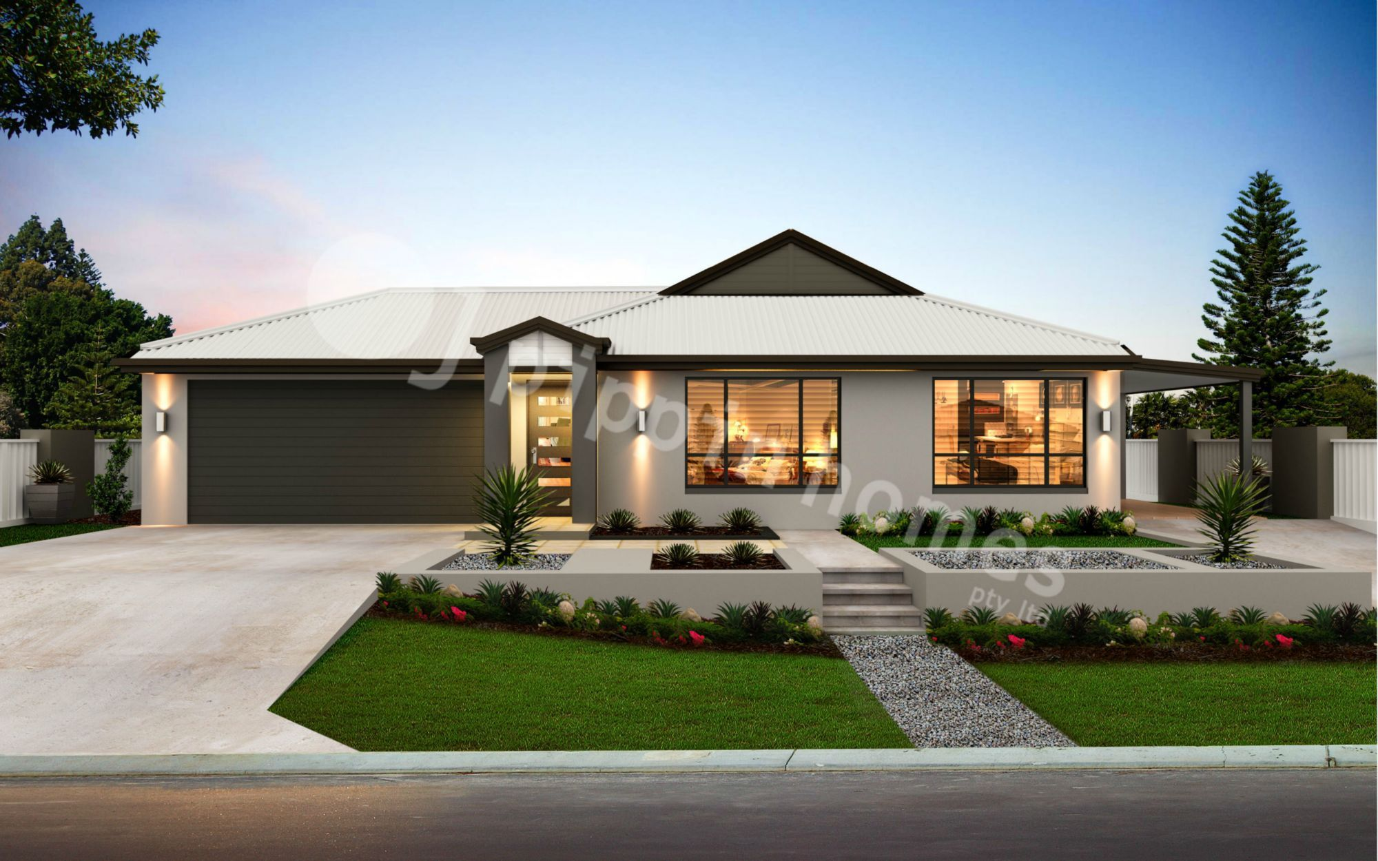 Grace 3 with a Dual Occupancy Double Garage is a very ... on house front doors, modern garage doors design, home luxury house design, front entrance design,