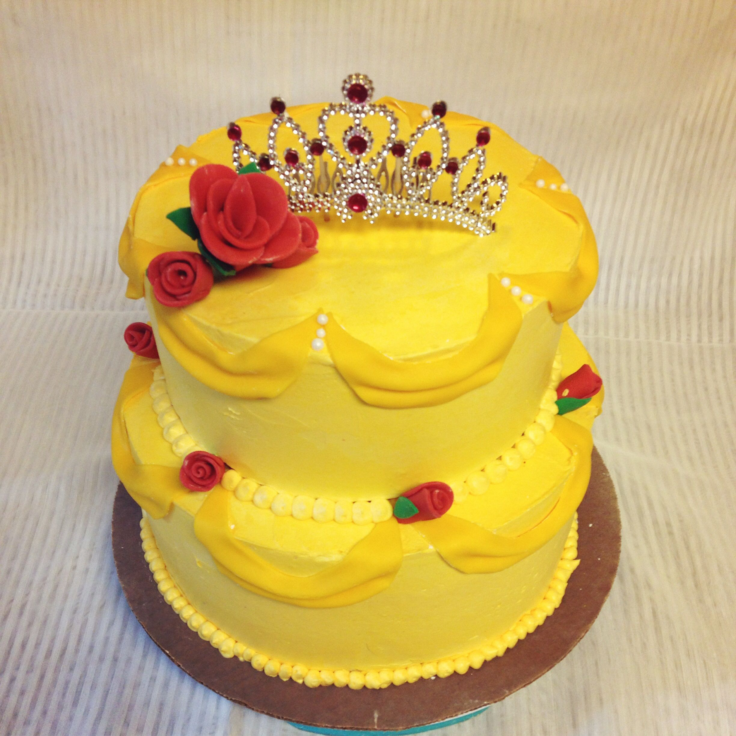 Beauty and The Beast cake for a first birthday party. | Cake Art ...