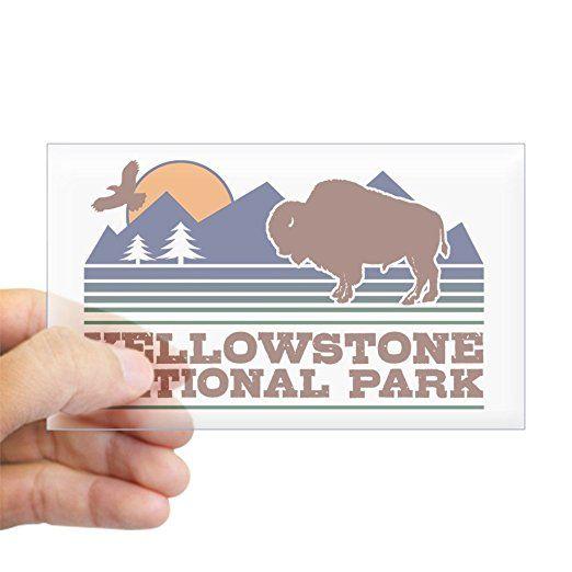 Amazon com cafepress yellowstone national park sticker rectangle rectangle bumper sticker car decal home kitchen