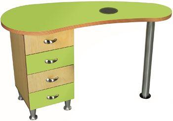 KINKY Green Birch Manicure Table | Design X Mfg | Salon Equipment, Salon  Furniture,