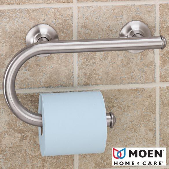 Bathroom shelves towell bar over toilet grab bar with - Grab bars for toilet in bathrooms ...