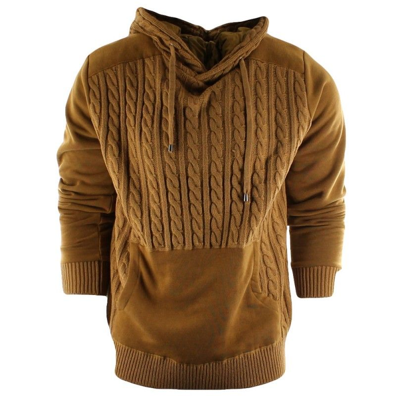 R.Sole Cable Front Hoodie Sweater | Cable Knit Hoodies | Pinterest