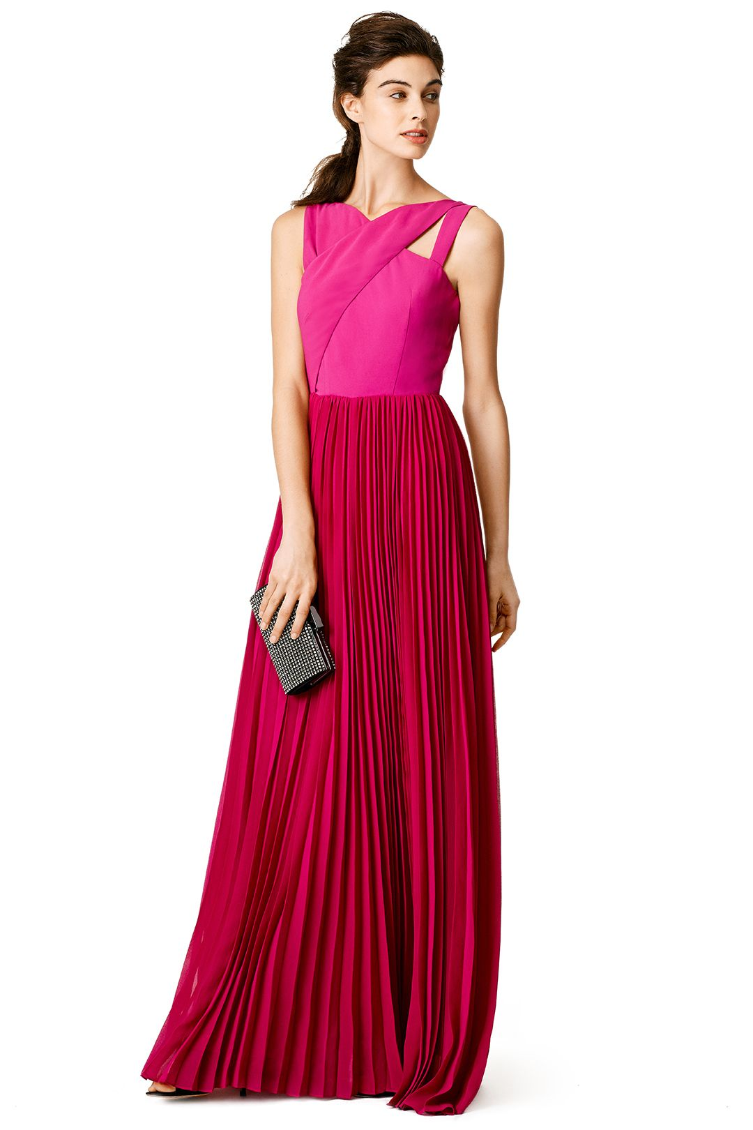 Fuchsia Cross Gown   Gowns, Formal gowns and Formal