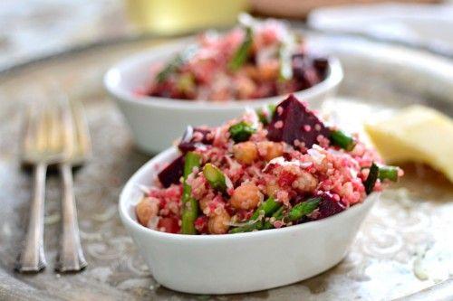 quick and easy beet quinoa