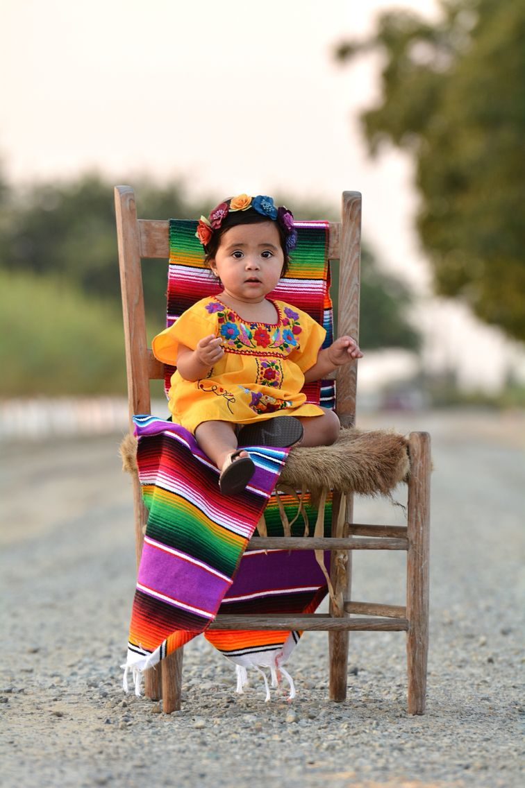 Zarape Photoshoot fiesta Mexican culture vestido baby